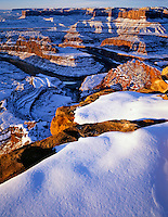 Winter Sunrise over the Colorado River Canyons of Canyonlands, Dead Horse Point State Park, Utah