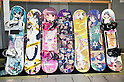 June 2, 2012, Tokyo, Japan - Anime Snow board tables exhibit at the Moe Culture Festival 2012.  The Anime and Cosplay exhibition &quot;Moe Culture Festival 2012&quot; from June 2nd to 3rd at Otaku Sangyou Plaza Pio..