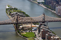 aerial photograph Queensboro Bridge, Roosevelt Island, East River Manhattan, New York City