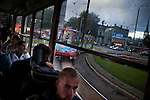 A scene from a transit trolly in Tallinn, Estonia in Sept. 2009. The young democracy joined the European Union in 2004 and since has been working on getting the euro as its national currency. Estonia has one of the highest per capita incomes in central europe.