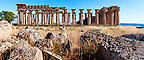 Fallen column drums of Greek Dorik Temple ruins  Selinunte, Sicily photography, pictures, photos, images &amp; fotos. 63