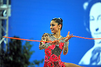 Ayiesha Johnston of Australia performs with rope at 2010 Pesaro World Cup on August 27, 2010 at Pesaro, Italy.  Photo by Tom Theobald.