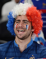 FUSSBALL  EUROPAMEISTERSCHAFT 2012   VIERTELFINALE Spanien - Frankreich      23.06.2012 Fussballfan aus Frankreich
