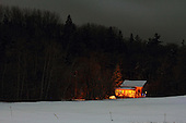 country home at night