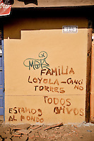 "Chile, Aftermath of the tsunami in the area of Consitucion. ""Loyola Cancino family, we are alive and living in the beck of the house"""