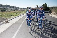 Enrico Gasparotto (ITA/Wanty-Groupe Gobert) &amp; Antoine Demoiti&eacute; (BEL/Wanty-Groupe Gobert) leading the way<br /> <br /> Pro Cycling Team Wanty-Groupe Gobert <br /> <br /> Pre-season Training Camp january 2016