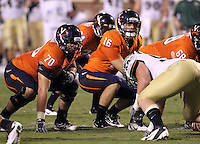 Sept. 3, 2011 - Charlottesville, Virginia - USA; Virginia Cavaliers quarterback Michael Rocco (16) snaps the ball during an NCAA football game against William & Mary at Scott Stadium. Virginia won 40-3. (Credit Image: © Andrew Shurtleff