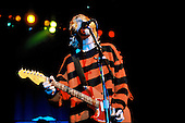 Nirvana - vocalist guitarist Kurt Cobain performing live in concert at the Roseland Ballroom, New York City, USA - July 23rd 1993.  <br /> Photo credit: Hans-Martin Issler/IconicPix/Atlasicons