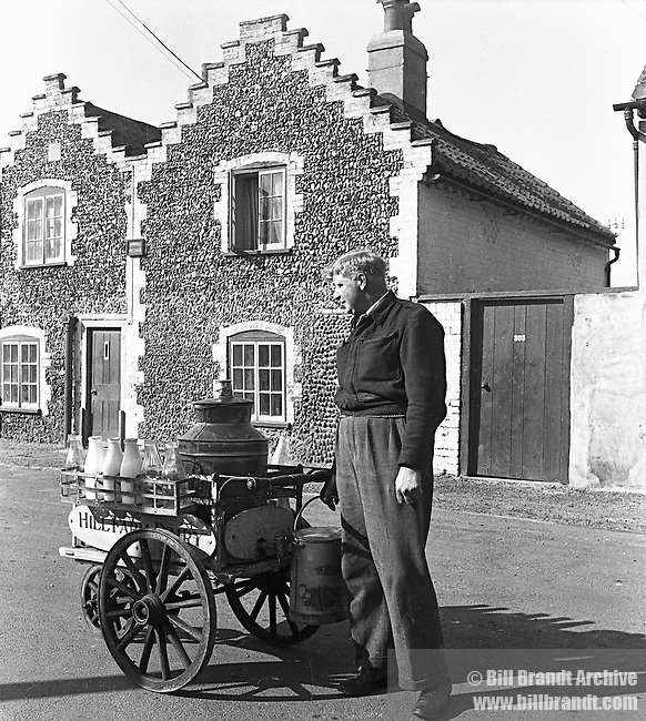 Milk man and float Aldeburgh 1948