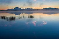 From left to right: Mount Drum, Sanford, Wrangell of the Wrangell mountain range, Wrangell St. Elias National Park, Alaska.