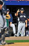 12 March 2011: New York Yankees' Manager Joe Girardi signals an intentional walk during a Spring Training game against the Washington Nationals at Space Coast Stadium in Viera, Florida. The Nationals edged out the Yankees 6-5 in Grapefruit League action. Mandatory Credit: Ed Wolfstein Photo