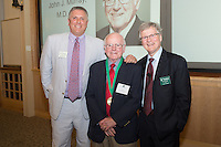 Mark Pasanen, M.D., from left, John Murray, M.D., Dean Rick Morin, M.D. Reunion 2013.
