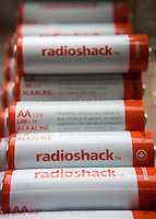 RadioShack branded AA alkaline  batteries in New York on Friday, September 12, 2014.  RadioShack announced that it might have to file for bankruptcy protection if it cannot find a white knight to provide a financial lifeline. The electronics retailer is running out of cash and will soon be able to support its operations.