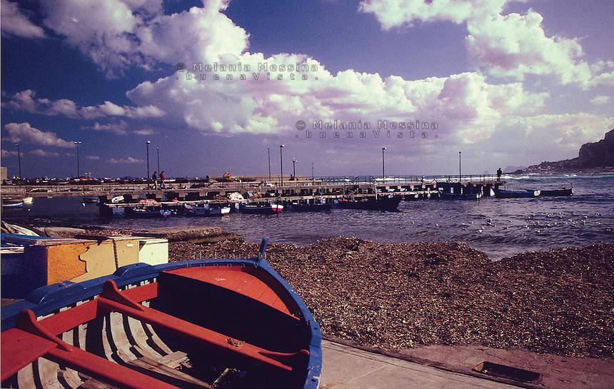 Mondello harbor, Palermo.<br /> Porticciolo di Mondello, Palermo.