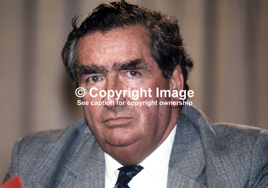 Denis Healey, MP, deputy leader, Labour Party, UK, at annual conference - Healey-Denis-19820900147DH2
