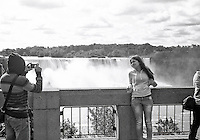 Thousands of people take pictures of themselves at the Falls. Ricoflex TLR. 2014