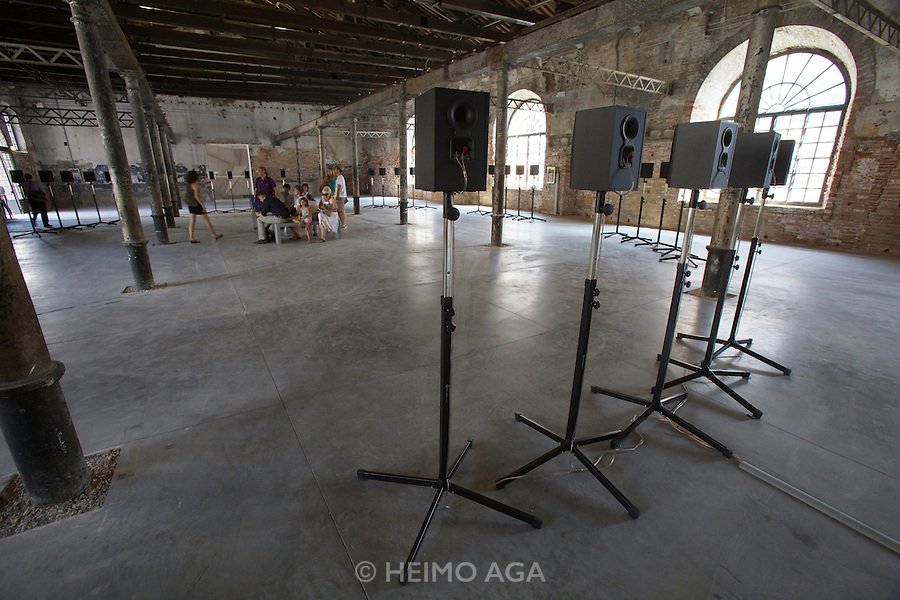 "12th Biennale of Architecture. Arsenale. Janet Cardiff, Canada. ""The Forty Part Motet"", 2001."