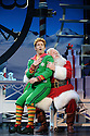 London, UK. 03.11.2015. ELF THE MUSICAL opens at the Dominion Theatre, Tottenham Court Road. Picture shows: Ben Forster (Buddy), Mark Kerracher (Santa). Photograph © Jane Hobson.