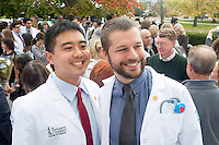 Kai Ping Wang, left, George Taylor. Class of 2017 White Coat Ceremony.
