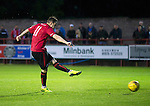 Brechin City v St Johnstone&hellip;26.07.16  Glebe Park, Brechin. Betfred Cup<br />Ally Love scores the winning penalty<br />Picture by Graeme Hart.<br />Copyright Perthshire Picture Agency<br />Tel: 01738 623350  Mobile: 07990 594431