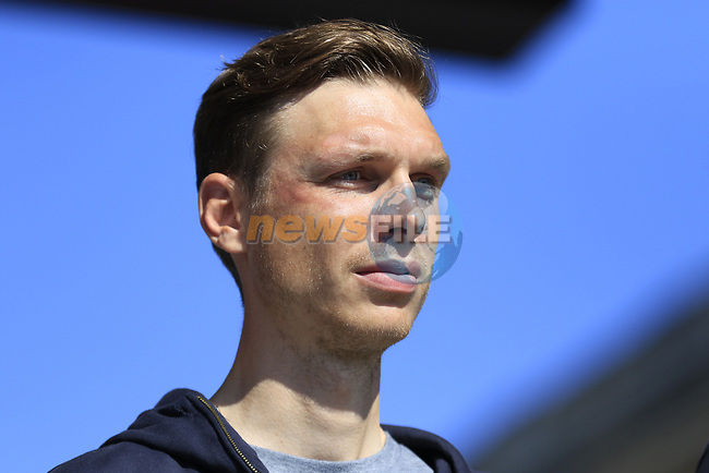 Tony Martin (GER) Team Katusha Alpecin at the Team Presentation for the upcoming 115th edition of the Paris-Roubaix 2017 race held in Compiegne, France. 8th April 2017.<br /> Picture: Eoin Clarke | Cyclefile<br /> <br /> <br /> All photos usage must carry mandatory copyright credit (&copy; Cyclefile | Eoin Clarke)