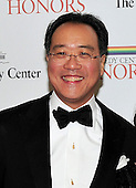 Yo-Yo Ma arrives for the formal Artist's Dinner honoring the recipients of the 2011 Kennedy Center Honors hosted by United States Secretary of State Hillary Rodham Clinton at the U.S. Department of State in Washington, D.C. on Saturday, December 3, 2011. The 2011 honorees are actress Meryl Streep, singer Neil Diamond, actress Barbara Cook, musician Yo-Yo Ma, and musician Sonny Rollins..Credit: Ron Sachs / CNP