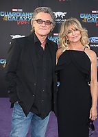 19 April 2017 - Hollywood, California - Kurt Russell, Goldie Hawn. Premiere Of Disney And Marvel's &quot;Guardians Of The Galaxy Vol. 2&quot; held at the Dolby Theatre. <br /> CAP/ADM<br /> &copy;ADM/Capital Pictures