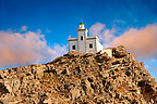 Lighthouse on Poros, Greek Cyclades Islands
