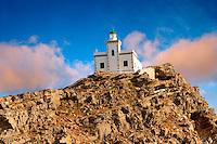 Lighthouse on Poros, Greek Cyclades Islands