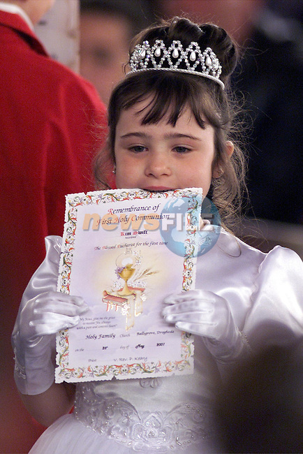 Children who made thier First Holy Communion in the Holy Family Church, Ballsgrove..Picture: Paul Mohan/Newsfile