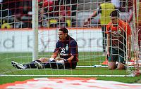 FUSSBALL   1. BUNDESLIGA   SAISON 2011/2012   29. SPIELTAG 1. FC Koeln - SV Werder Bremen                           07.04.2012 Aleksandar Ignjovski (re) und Torwart Tim Wiese (li., beide SV Werder Bremen)  sind nach dem 1:1 enttaeuscht