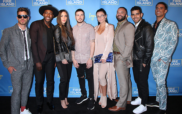 "NEW YORK, NY April 20, 2017 Cheyenne Parker, Khasan Brailsford, Samantha Giancola, Vinny Guadagnino, Jenni ""JWOWW"" Farley, Justin Russo, Brando Osorio, Patrick McDonald attend Logo's Fire Island Premiere Party  at Atlas Social Club  in New York April 20,  2017. Credit:RW/MediaPunch"