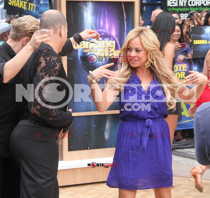 NEW YORK, NY - AUGUST 21, 2012: Sabrina Bryan at Good Morning America to discuss Dancing With The Stars season 15 in New York City. &copy; RW/MediaPunch Inc. /NortePhoto.com<br />