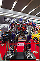 Dec 15, 2011, Tokyo, Japan - A large scale figure of Optimus Prime from the movie, &quot;Transformers Dark Side of the Moon&quot; is displayed at a electronics store in downtown Tokyo. The &quot;Transformers Dark Side of the Moon&quot; DVD will be released in Japan on December 16. (Photo by Christopher Jue/AFLO)