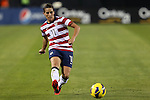 09 February 2012: Ali Krieger (USA). The United States Women's National Team played the Scotland Women's National Team at EverBank Field in Jacksonville, Florida in a women's international friendly soccer match. The U.S. won the game 4-1.