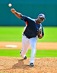 8 March 2009: Washington Nationals' pitcher Shairon Martis on the mound during a Spring Training game against the New York Mets at Space Coast Stadium in Viera, Florida. The Nationals defeated the Mets 8-3 in the Grapefruit League matchup. Mandatory Photo Credit: Ed Wolfstein Photo