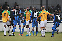 Lapton (blue/black) vs Bancroft United (yellow/white) - Hackney & Leyton League Dickie Davies Cup Final at Waltham Forest FC - 29/04/11 - MANDATORY CREDIT: Gavin Ellis/TGSPHOTO - Self billing applies where appropriate - Tel: 0845 094 6026