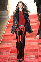 Ruby Aldridge walks runway in an outfit from the Tommy Hilfiger Fall 2011 Bohemian Prep collection, during Mercedes-Benz Fashion Week Fall 2011.