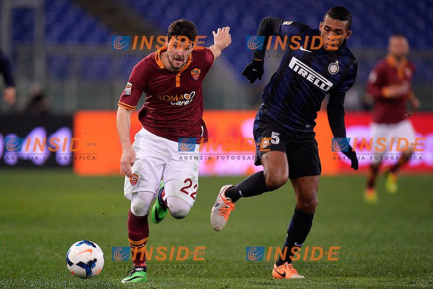 Mattia Destro Roma, Juan Jesus Inter <br /> Roma 01-03-2014 Stadio Olimpico - Football Calcio Serie A 2013/2014 AS Roma - Inter Foto Andrea Staccioli / Insidefoto