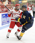 Lauren Cherewyk (BU - 7), Kayla Dodson (Windsor - 12) - The Boston University Terriers defeated the visiting University of Windsor Lancers 4-1 in a Saturday afternoon, September 25, 2010, exhibition game at Walter Brown Arena in Boston, MA.