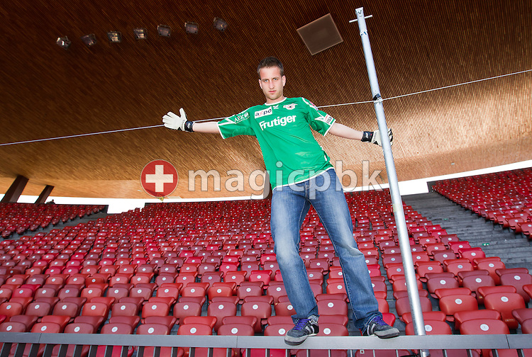 FC Thun soccer goalkeeper David DA COSTA of Switzerland is posing for a photo in the &quot;Suedkurve&quot; sector (sector of home team FC Zuerich's hard core fans) at the Letzigrund stadium in Zurich, Switzerland, Tuesday, March 22, 2011. Da Costa played for FC Zuerich from 1992 to 2008 and watched many games form the &quot;Suedkurve&quot; sector. (Photo by Patrick B. Kraemer / MAGICPBK)