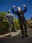 Fitness pioneer Jack La Lanne, 92, photographed at his home in Morro Bay, California on October 18, 2006