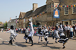 "May Fair. ""Pig Dykes Molly"" Morris Dancers. Stilton village Cambridgeshire UK 2008."