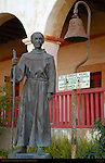 Fr. Junipero Serra statue, Dale Smith, Mission Santa Barbara, California