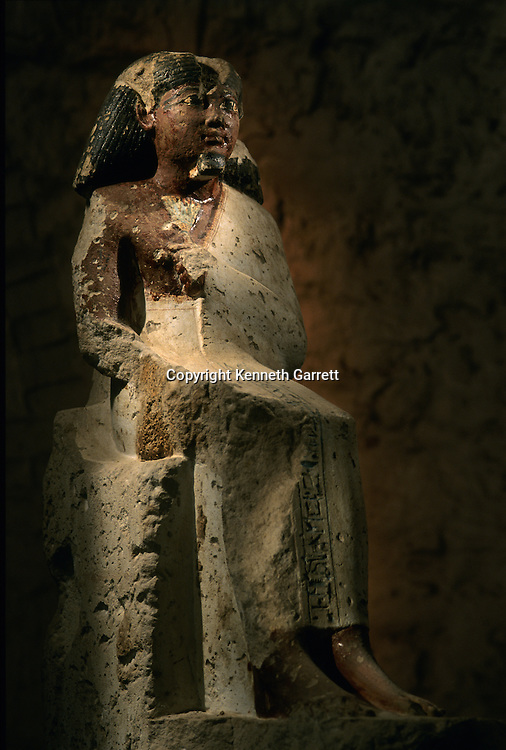 Statue of Amenhotep, from eign of Thutmosis III, dynasty 18, New Kingdom