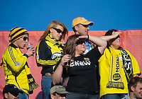 16 October 2010: Columbus Crew fans show their support during a game between the Columbus Crew and Toronto FC at BMO Field in Toronto..The game ended in a 2-2 draw.
