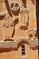 Bas Releif sculptures with scenes from the Bible on the outside of the 10th century Armenian Orthodox Cathedral of the Holy Cross on Akdamar Island, Lake Van Turkey 24