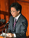 January 24, 2012, Tokyo, Japan - Japans Finance Minister Jun Azumi delivers his policy speech as the ordinary session of the Diet convenes in Tokyo on Tuesday, January 24, 2012.  (Photo by Natsuki Sakai/AFLO) AYF -mis-