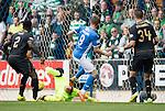 St Johnstone v Celtic&hellip;20.08.16..  McDiarmid Park  SPFL<br />Steven MacLean scores saints second goal<br />Picture by Graeme Hart.<br />Copyright Perthshire Picture Agency<br />Tel: 01738 623350  Mobile: 07990 594431