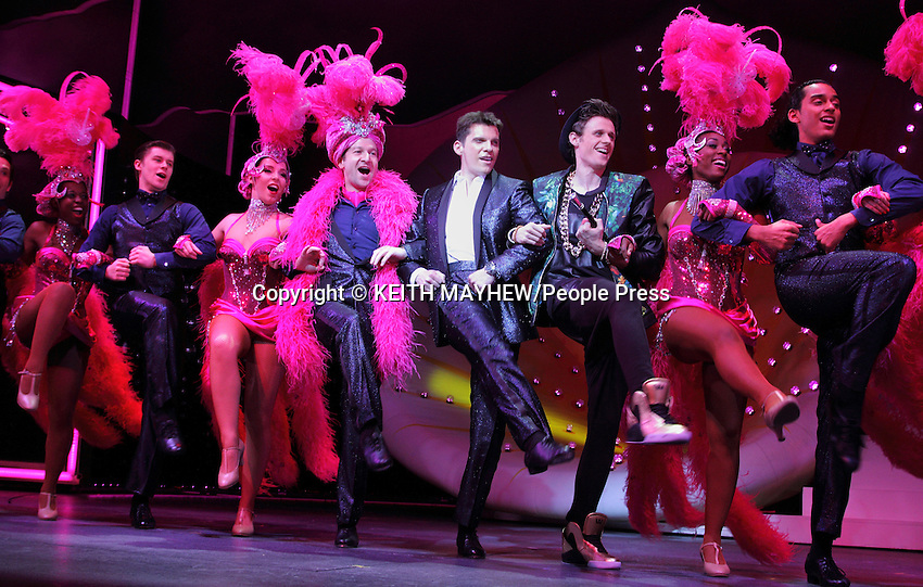 Photocall for the  X-Factor Musical &quot;I Can't Sing!&quot; written by Harry Hill and Steve Brown at the London Palladium with Nigel Harman as Simon Cowell on March 21st 2014 <br /> <br /> Picture - Nigel Harman as Simon Cowell<br /> <br /> Photo by Keith Mayhew